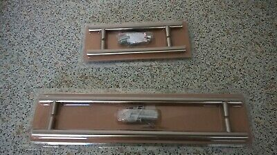brushed nickel effect rod handles.BNIB 288mm hole centre 3 x Pairs B/&Q 344mm