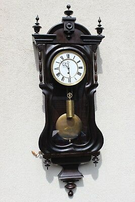 Vienna Rare wall clock  nice case  at 1850