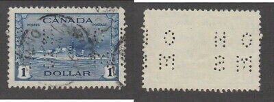 Used Canada $1 OHMS Perforated Official Destroyer Stamp #O262 (Lot #16910)