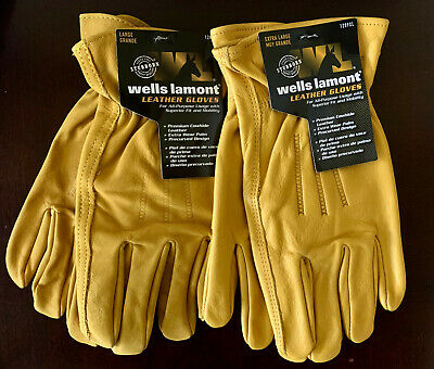Wells Lamont Premium Cowhide Leather Work Gloves Select Size M, L, XL