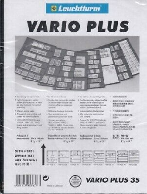 3 Rows Lighthouse Black VARIO PLUS 3S Pages Strong & Stiff Sheets Pack of 5 NEW