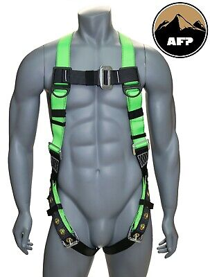 AFP Universal Full-Body Safety Harness with Dorsal D-Ring and Tongue Buckle Legs