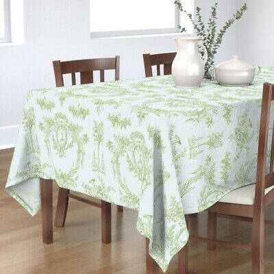 Tablecloth French Vintage Rococo Toile Shabby Chic Cottage Style Cotton Sateen