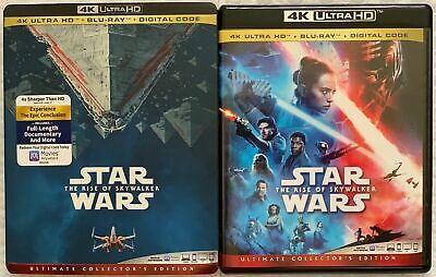 Star Wars: The Rise Of Skywalker 4K Ultra Hd Blu Ray 3 Disc Set + Slipcover