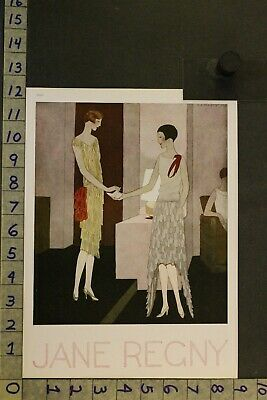 1928 Art Deco Flapper Fashion Jane Regny French Beauty Sexy Marty Illus Ad Sx10