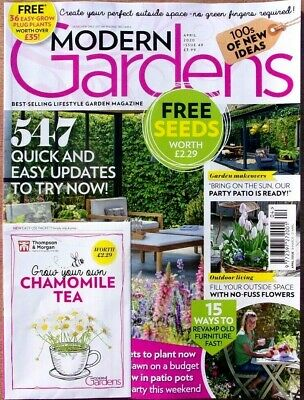 Modern Gardens Magazine April 2020 With Free Seeds ~ New ~
