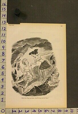 1946 Illus Wilde Pepsi Pop Water Sport Woman Swim Suit Sea Monster Ad Rw62