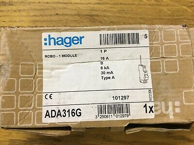 hager 16A rcbo