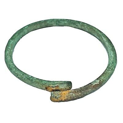 Ancient Norse Viking Torc Bracelet - Ca 800-1100 AD - Brass Artifact Antiquity E