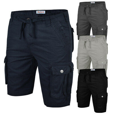 Mens Cargo Shorts Stallion Chino Casual Combat Summer Cotton New Work Half Pants