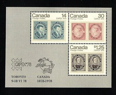CANADA MINT SOUVENIR SHEET - SCOTT NO. 756a - CAPEX '78.
