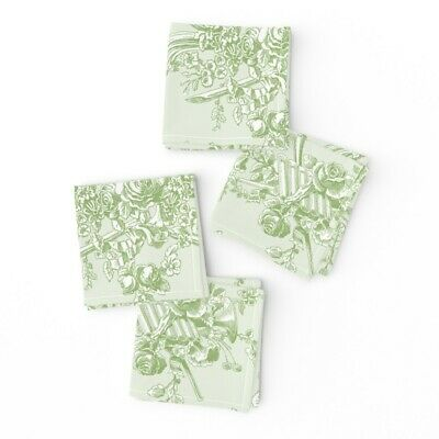 Cocktail Napkins French Vintage Rococo Shabby Chic Floral Cottage Style Set of 4