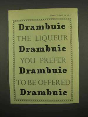 1957 Drambuie Liqueur Ad - You Prefer to Be Offered