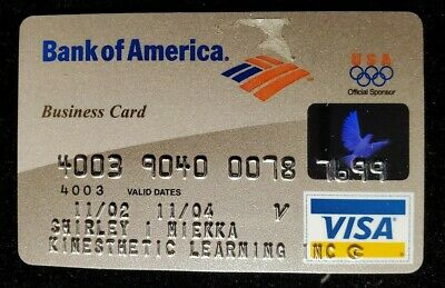 Bank of America Visa Business Card exp 2004♡free ship♡cc1402♡Olympic Sponsor