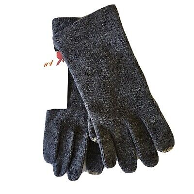 Touch & Go Knit Smart Phone Gloves One Size Gray Texting