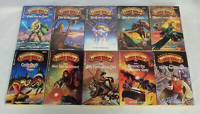 Lot of 10 Lone Wolf role playing adventure paperback game books fantasy wizard