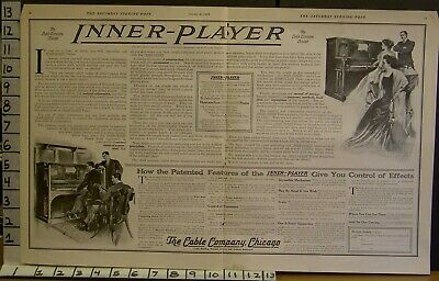 1909 Inner Player Piano Music Vallely Chicago Roll Sound Musician  2302523025