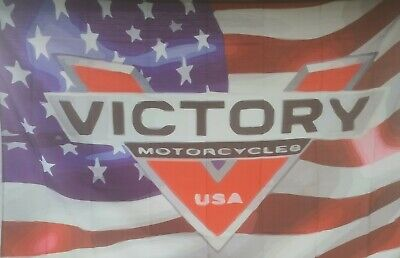 Victory Motorcycle 3X5 Flag Distorted Art Collection #54