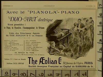 1928 Aeolian Electric Player Piano Music Dance French Flappers  2290122901