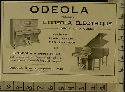 1928 Odeola Player Piano Electric Music Dance Paris France  2288122881