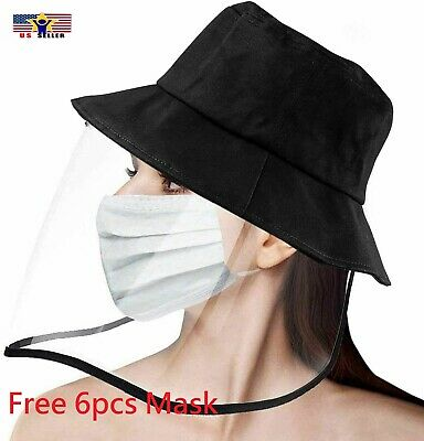 Made in Korea Cap with Protective Clear Cover Face Shield Dust-proof Safety Hat