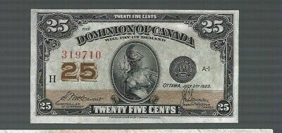 Canada 1923 DOMINION OF CANADA FRACTIONAL ISSUES 25 CENTS P-11B