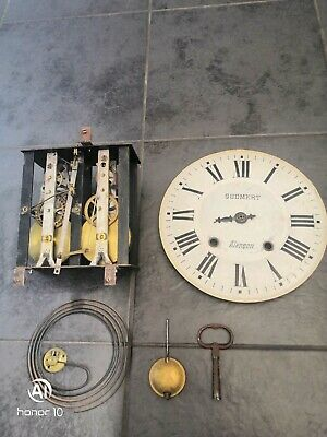 Antique French grandfather clock movements in good working order