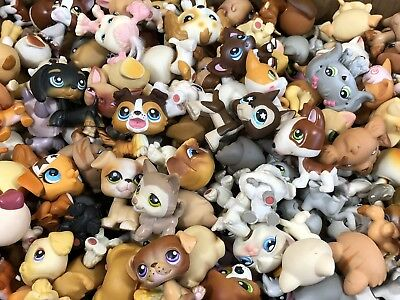 Littlest Pet Shop Rare Mixed Lot LPS 2 Great Dane Siamese Dachshund W/ Accesory