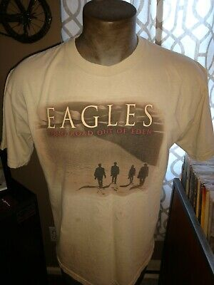 Mens 2007 The Eagles East of Eden Tour 1-sided concert t-shirt  large stained