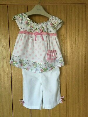 Ex M /& S Baby Girls Pink Floral Spotty Dotty Top and Leggings Set Age 0 3 6 9 12