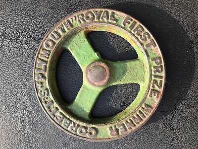 """Vintage old Cast Iron Corbetts Plymouth Pulley Wheel 5 1/4"""" diameter"""