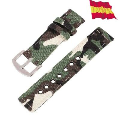Replacement Military Watch Nylon Strap 18mm for Casio F 91 Camouflage Replace 15