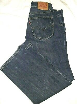 "LEVIS 505 Boys size 12 Husky Blue Jeans 32"" x 27"" preowned Kid's Clothing Pants"