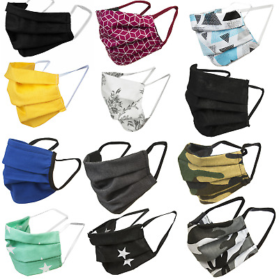 Cotton Face Protection Reusable Washable 2-Sided Layers Elastics Universal Size