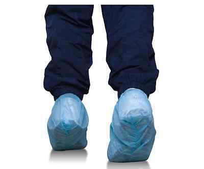Disposable Shoe Cover, Non Skid Bottom, Blue, 100 pcs/50 pairs