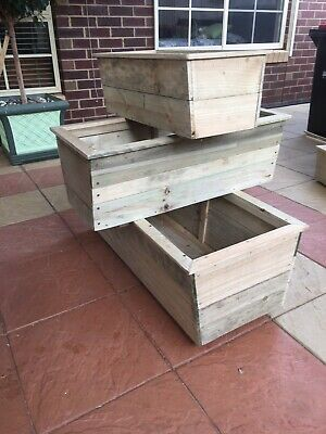 Planter Box, Raised, Small, Rustic, Timber, Treated Pine, Heavy Duty, Hand Made