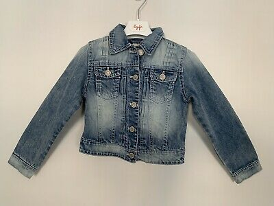 Girls NEXT Age 7 Years Denim Jacket Blue Long Sleeve Collared