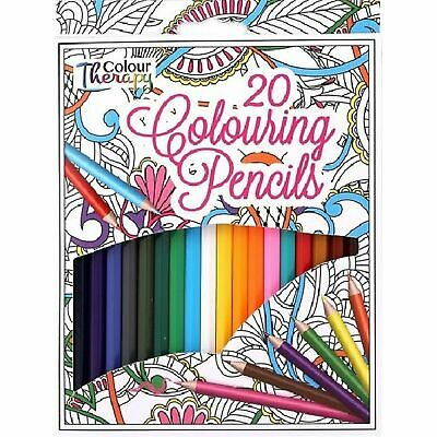 Tallon  20 Pack Full Size Colour Pencils Colour Therapy Drawing