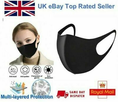 Face Mouth Mask, Reusable Washable Unisex Mask Anti-Pollution outdoor Travel RX