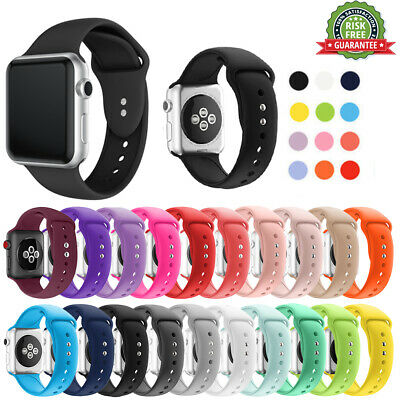 Soft Sports Silicone iWatch Band 38/40mm,42/44mm Strap For Apple Watch 1/3/4/5/6