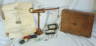G. WESTPHAL Antique Scientific Lab Balance Scale VERY OLD w Paper Brochure