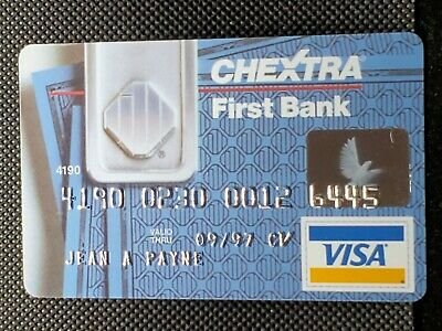 Chextra First Bank Visa exp 1997♡Free Shipping♡cc1460♡