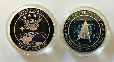 Space Force USAF United States Space Command Air Force Silver Challenge Coin