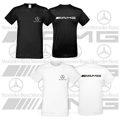Mercedes Benz AMG Logo Cotton Tshirt Emblem Car Moto Mens Shirt All Sizes S XXXL
