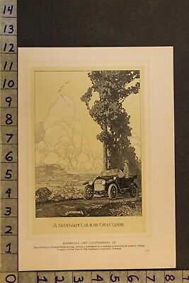 1914 Studebaker Roadster Illustration Franklin Booth Drawing Detroit Auto Adue42