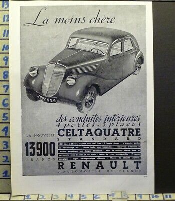 1935 Renault Cabriolet French Car Auto Sport Motor Travel    Ab63