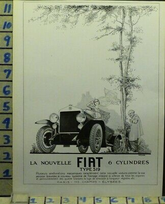1924 Fiat 519 Car Auto French Vogue Arnold Woman Sport Country   Ab11