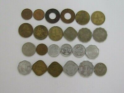 Lot of 24 Different Pakistan Coins - 1948 to 1983 - Circulated