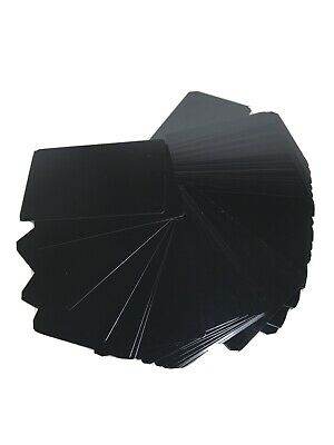 100 Black Blank Brushed Metal Business Cards Laser Engravable Aluminium Alloy