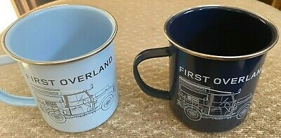 2 Land Rover Heritage First Overland Collection Metal/Tin Cups - Free Shipping